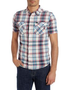 Short Sleeve Crinkle Check Shirt