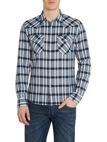 Long Sleeve Western Shirt In Check