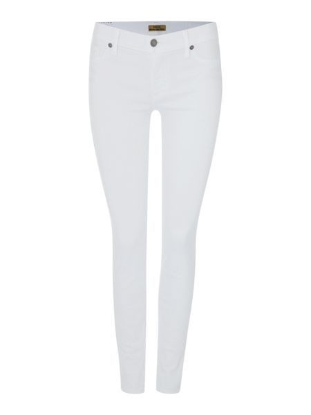 True Religion Halle mid rise skinny jean in optic white