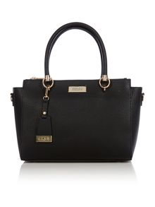 Saffiano black large tote bag
