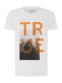 Crew Neck Regular Fit T-Shirt In Square True Prin