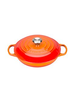 Signature Cast Iron Shallow Cass 26cm Volcanic