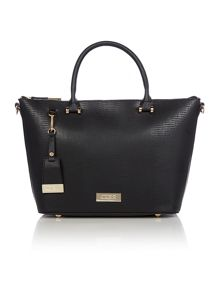 Shopper black large tote bag