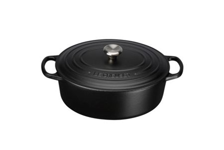 Le Creuset Signature Cast Iron Oval Casserole 27 Satin Black
