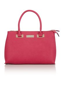 Double zip pink large tote bag