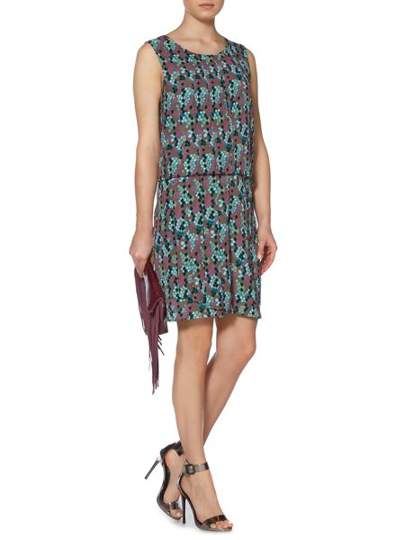 Biba Snake printed pleat detail dress