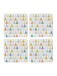 Juxtapose cork coasters Set Of 4