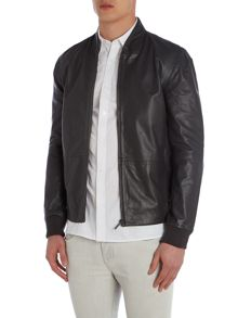 Lex Leather Bomber Jacket