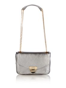 Soft saff metallic crossbody bag