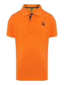 Boys plain logo polo
