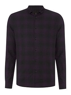 Buxton Check Long Sleeve Classic Collar Shirt