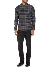 Label Lab Markham Check Slim Fit Long Sleeve Shirt