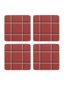 Linea Chesnut cork coasters Set Of 4