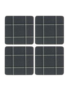 Graphite cork coasters Set Of 4