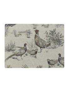 Pheasant Cork Coaster Set Of 4