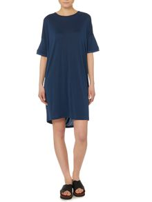 Y.A.S. Shortsleeved front drape dress