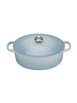 Signature Oval Casserole 27cm Coastal Blue