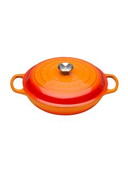 Signature Cast Iron Shallow Casserole 30 Volcanic