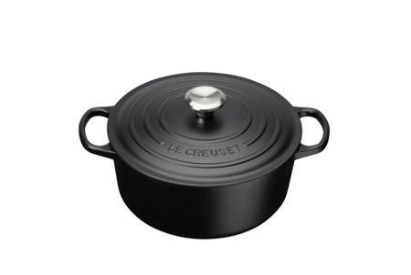 Le Creuset Signature Cast Iron Round Cass 26cm Satin Black