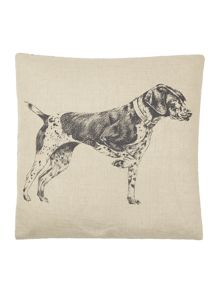 Linea Hand drawn dog design cushion