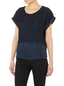 Y.A.S. Shortsleeved lace top