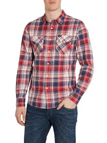 Long Sleeve Classic Fit Western Shirt In Check
