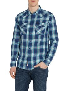 Long Sleeve 2 Pocket Western Shirt In Check