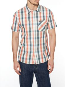 Short Sleeve Classic Fit Shirt In Check