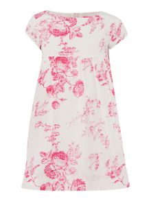 Girls flower print woven dress