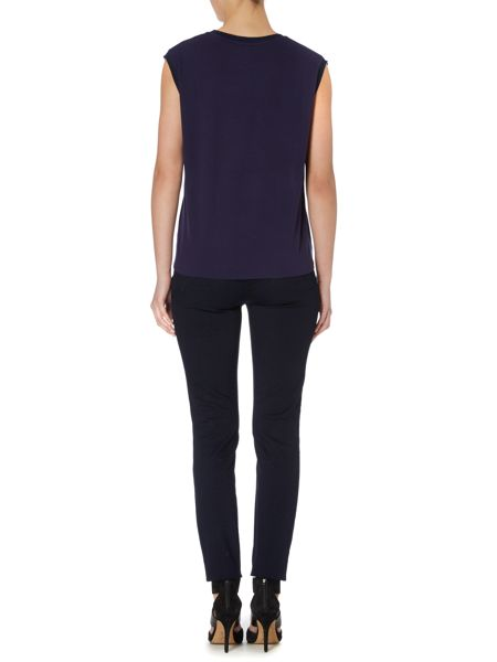 Pied a Terre woven front jersey top