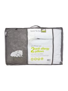 SNUG Anti Allergy Microfibre Pillow Pair