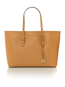 Jetset tan multi function tote bag
