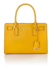 Dillon yellow medium tote bag
