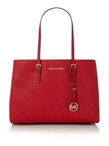 Jetset red tote bag