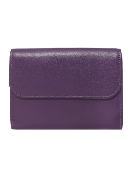 Golunski Purple medium flapover purse