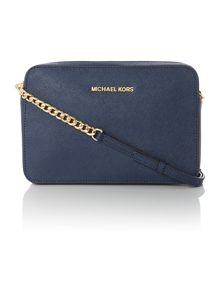 Michael Kors Jetset travel navy cross body bag