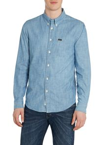 Classic Fit Chambray Button Down Shirt