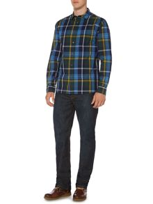 Howick Fairfax Checked Long Sleeve Cutaway Collar Shirt