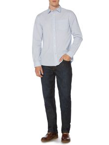 Fleet stripe long sleeve classic fit shirt