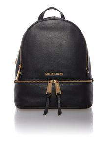 Michael Kors Rhea zip black small backpack