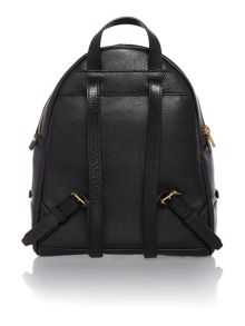 Rhea zip black small backpack