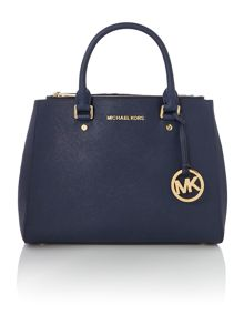 Michael Kors Sutton navy medium tote bag