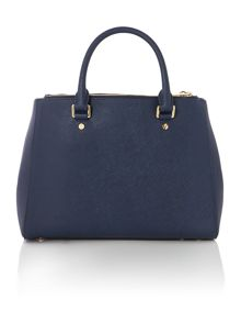 Sutton navy medium tote bag