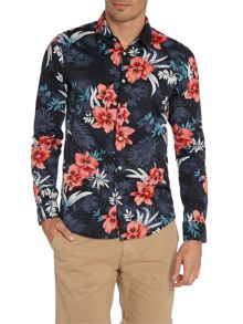 Classic Floral Slim Fit Long Sleeve Shirt