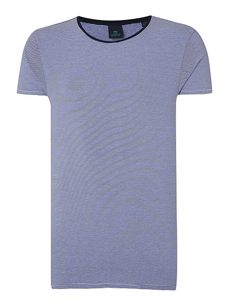 Scotch soda high stripe crew neck t shirt house of fraser for High crew neck t shirts