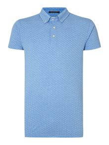 Printed Polka Dot Regular Fit Polo Shirt