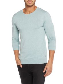Melange Textured Crew Neck Jumper