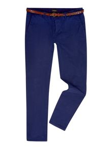 Garment-Dyed Slim Fit Chinos