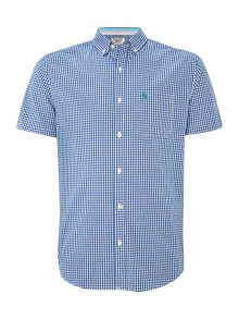 Gingham Classic Fit Short Sleeve Button Down Shir