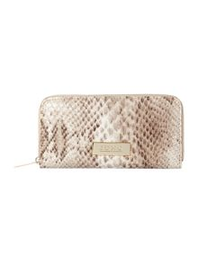 Taupe large flapover purse